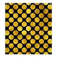 Circles2 Black Marble & Gold Paint (r) Shower Curtain 66  X 72  (large)  by trendistuff