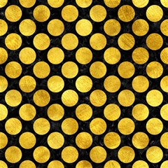 Circles2 Black Marble & Gold Paint (r) Magic Photo Cubes by trendistuff