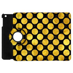 Circles2 Black Marble & Gold Paint (r) Apple Ipad Mini Flip 360 Case by trendistuff