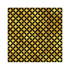 Circles3 Black Marble & Gold Paint Acrylic Tangram Puzzle (6  X 6 ) by trendistuff