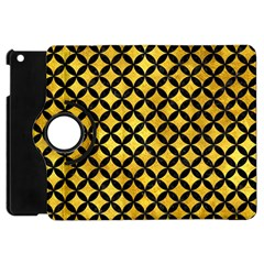 Circles3 Black Marble & Gold Paint Apple Ipad Mini Flip 360 Case by trendistuff