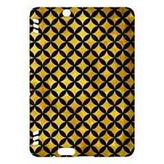 Circles3 Black Marble & Gold Paint Kindle Fire Hdx Hardshell Case by trendistuff