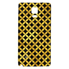 Circles3 Black Marble & Gold Paint (r) Galaxy Note 4 Back Case