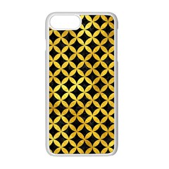 Circles3 Black Marble & Gold Paint (r) Apple Iphone 8 Plus Seamless Case (white)