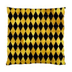 Diamond1 Black Marble & Gold Paint Standard Cushion Case (one Side) by trendistuff
