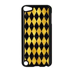 Diamond1 Black Marble & Gold Paint Apple Ipod Touch 5 Case (black) by trendistuff