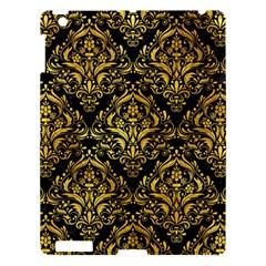 Damask1 Black Marble & Gold Paint (r) Apple Ipad 3/4 Hardshell Case by trendistuff