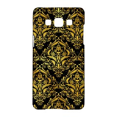 Damask1 Black Marble & Gold Paint (r) Samsung Galaxy A5 Hardshell Case  by trendistuff