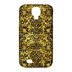 Damask2 Black Marble & Gold Paint Samsung Galaxy S4 Classic Hardshell Case (pc+silicone) by trendistuff
