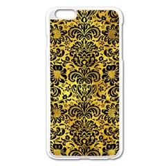 Damask2 Black Marble & Gold Paint Apple Iphone 6 Plus/6s Plus Enamel White Case by trendistuff