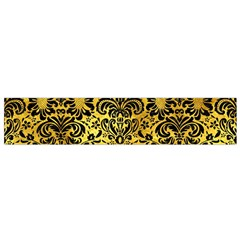 Damask2 Black Marble & Gold Paint Small Flano Scarf