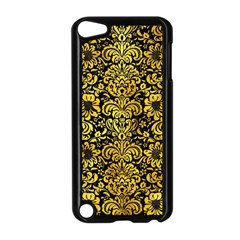 Damask2 Black Marble & Gold Paint (r) Apple Ipod Touch 5 Case (black)