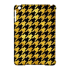 Houndstooth1 Black Marble & Gold Paint Apple Ipad Mini Hardshell Case (compatible With Smart Cover) by trendistuff