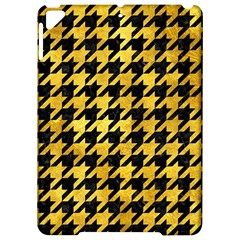 Houndstooth1 Black Marble & Gold Paint Apple Ipad Pro 9 7   Hardshell Case by trendistuff