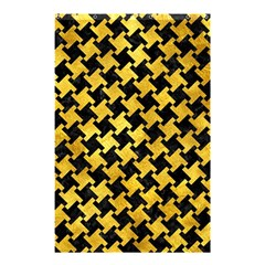 Houndstooth2 Black Marble & Gold Paint Shower Curtain 48  X 72  (small)  by trendistuff