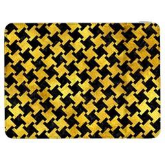 Houndstooth2 Black Marble & Gold Paint Samsung Galaxy Tab 7  P1000 Flip Case by trendistuff