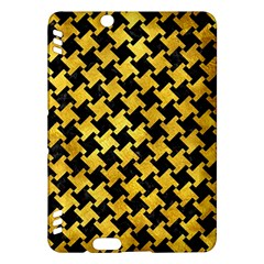 Houndstooth2 Black Marble & Gold Paint Kindle Fire Hdx Hardshell Case by trendistuff