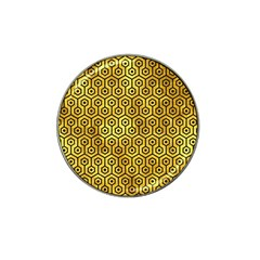 Hexagon1 Black Marble & Gold Paint Hat Clip Ball Marker (10 Pack) by trendistuff