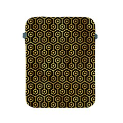 Hexagon1 Black Marble & Gold Paint (r) Apple Ipad 2/3/4 Protective Soft Cases by trendistuff