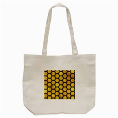 Hexagon2 Black Marble & Gold Paint Tote Bag (cream) by trendistuff