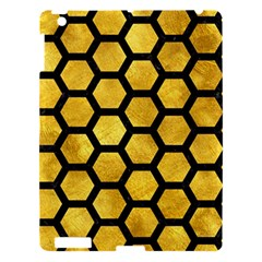Hexagon2 Black Marble & Gold Paint Apple Ipad 3/4 Hardshell Case by trendistuff