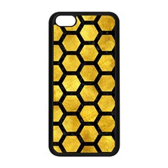 Hexagon2 Black Marble & Gold Paint Apple Iphone 5c Seamless Case (black) by trendistuff