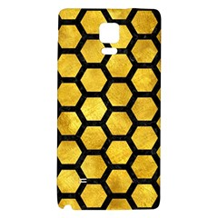 Hexagon2 Black Marble & Gold Paint Galaxy Note 4 Back Case