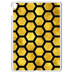 Hexagon2 Black Marble & Gold Paint Apple Ipad Pro 9 7   White Seamless Case by trendistuff