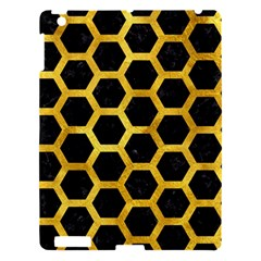 Hexagon2 Black Marble & Gold Paint (r) Apple Ipad 3/4 Hardshell Case by trendistuff