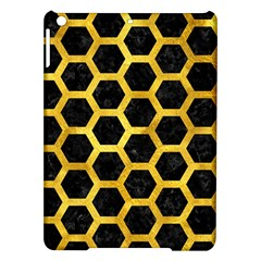 Hexagon2 Black Marble & Gold Paint (r) Ipad Air Hardshell Cases by trendistuff