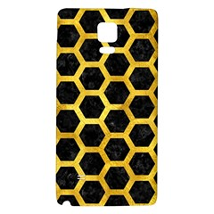 Hexagon2 Black Marble & Gold Paint (r) Galaxy Note 4 Back Case