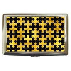 Puzzle1 Black Marble & Gold Paint Cigarette Money Cases by trendistuff