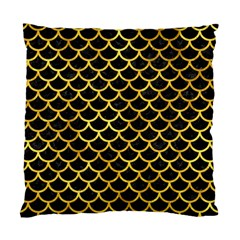 Scales1 Black Marble & Gold Paint (r) Standard Cushion Case (two Sides) by trendistuff