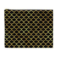 Scales1 Black Marble & Gold Paint (r) Cosmetic Bag (xl) by trendistuff