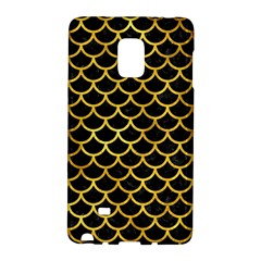 Scales1 Black Marble & Gold Paint (r) Galaxy Note Edge by trendistuff