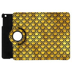 Scales2 Black Marble & Gold Paint Apple Ipad Mini Flip 360 Case by trendistuff