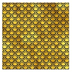Scales2 Black Marble & Gold Paint Large Satin Scarf (square) by trendistuff