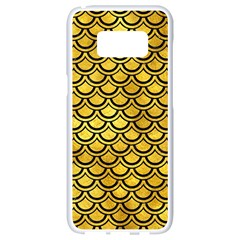 Scales2 Black Marble & Gold Paint Samsung Galaxy S8 White Seamless Case by trendistuff