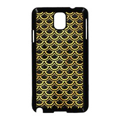 Scales2 Black Marble & Gold Paint (r) Samsung Galaxy Note 3 Neo Hardshell Case (black) by trendistuff