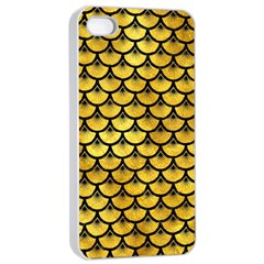 Scales3 Black Marble & Gold Paint Apple Iphone 4/4s Seamless Case (white) by trendistuff