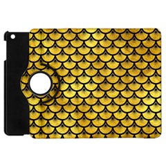 Scales3 Black Marble & Gold Paint Apple Ipad Mini Flip 360 Case by trendistuff