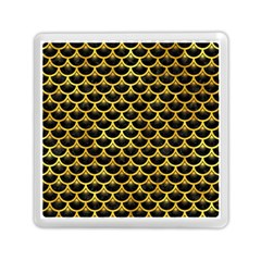 Scales3 Black Marble & Gold Paint (r) Memory Card Reader (square)  by trendistuff
