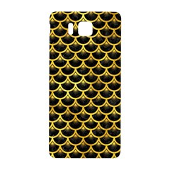 Scales3 Black Marble & Gold Paint (r) Samsung Galaxy Alpha Hardshell Back Case by trendistuff