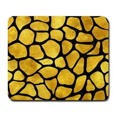 Skin1 Black Marble & Gold Paint (r) Large Mousepads by trendistuff
