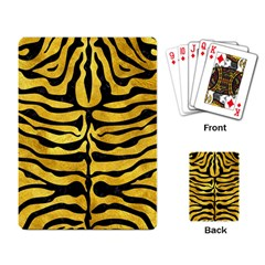 Skin2 Black Marble & Gold Paint Playing Card by trendistuff