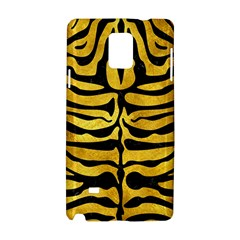 Skin2 Black Marble & Gold Paint Samsung Galaxy Note 4 Hardshell Case by trendistuff