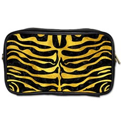 Skin2 Black Marble & Gold Paint (r) Toiletries Bags 2 Side by trendistuff