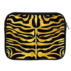 Skin2 Black Marble & Gold Paint (r) Apple Ipad 2/3/4 Zipper Cases by trendistuff