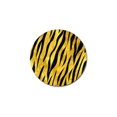 Skin3 Black Marble & Gold Paint Golf Ball Marker by trendistuff