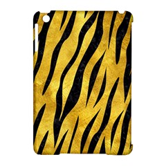 Skin3 Black Marble & Gold Paint Apple Ipad Mini Hardshell Case (compatible With Smart Cover) by trendistuff